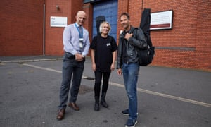 Head of learning and skills Lee Davies, left, with musical directors Julianne Dastockl and Pete Churchill who are running a choir at Birmingham prison.