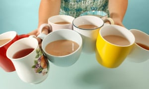 The average British person drinks 876 cups of tea a year – more than two full bathtubs' worth.