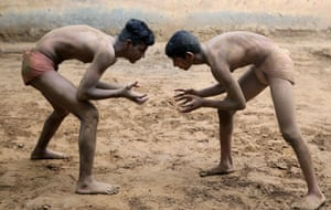 Sarfabad, India Youths train at a traditional wrestling school on the outskirts of Delhi