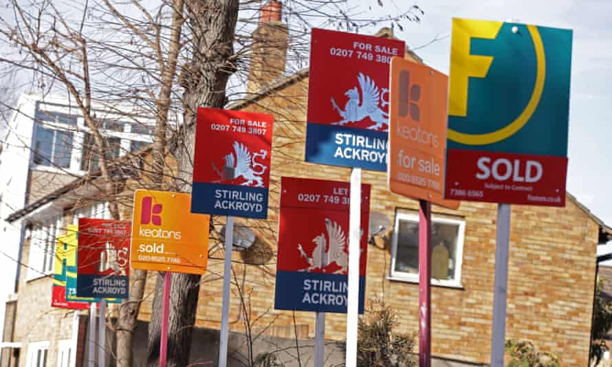 A collection of for sale signs