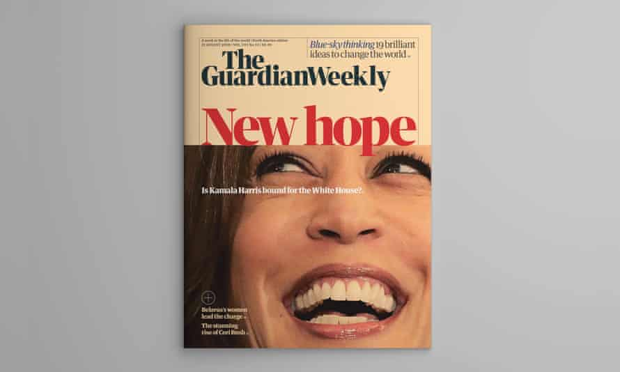 The cover of the North America edition of Guardian Weekly