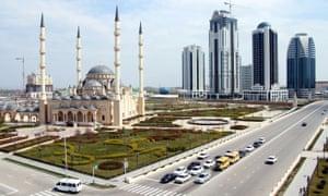 View of Grozny, Chechnya's capital city