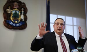 Governor Paul LePage apologizes in January for a remark about out-of-state drug dealers impregnating 'young white' girls.