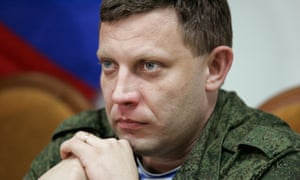 Alexander Zakharchenko, the leader of self-proclaimed Donetsk People's Republic (DPR).
