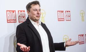Tesla CEO Elon Musk in Berlin yesterday
