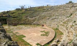 The amphitheatre remains.