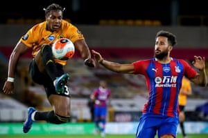 Wolves' Adama Traore (left) has come on leaps and bounds under Nuno's tutelage.