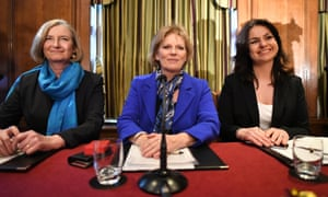 Independent Group MPsConservative MPs (left to right) Sarah Wollaston, Anna Soubry and Heidi Alen, during a press conference at One Great George Street in London, following the announcement that they have resigned from the Conservative Party and joined the Independent Group of MPs. PRESS ASSOCIATION Photo. Picture date: Wednesday February 20, 2019. See PA story POLITICS Labour. Photo credit should read: Stefan Rousseau/PA Wire