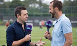 Optus Sport's World Cup presenters Richard Bayliss and Mark Schwarzer