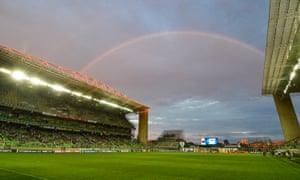 The open end at the Indepenencia Arena in Belo Horizonte can look spectacular if the weather is right.
