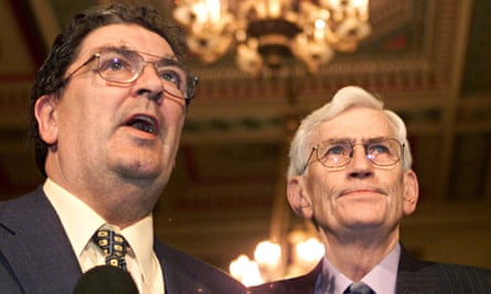 SDLP leader John Hume (left) and deputy first minister Seamus Mallon at Stormont in 1999.