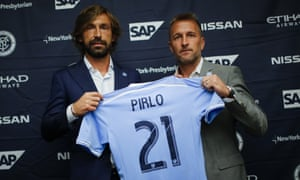 Andrea Pirlo, left, was formally unveiled as a New York City player earlier this month.