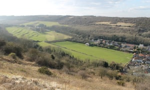 Farthingloe valley, rich in history and legend, from Western Heights, Dover