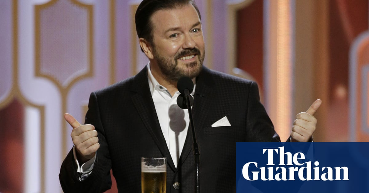 Ricky Gervais isnt the Golden Globes host we want – but the one we deserve