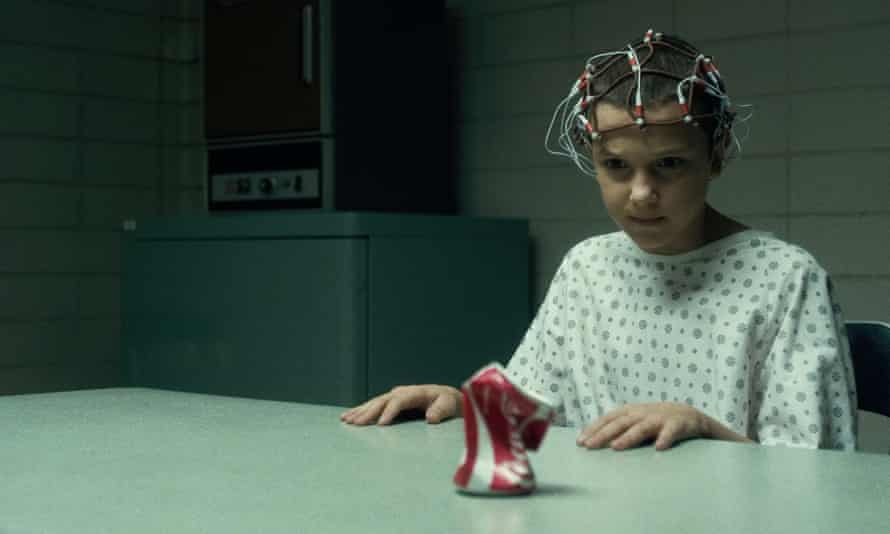 Millie Bobby Brown as Eleven in Stranger Things season one