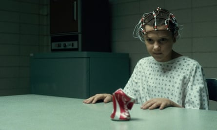 Millie Bobby Brown as Eleven in Stranger Things.