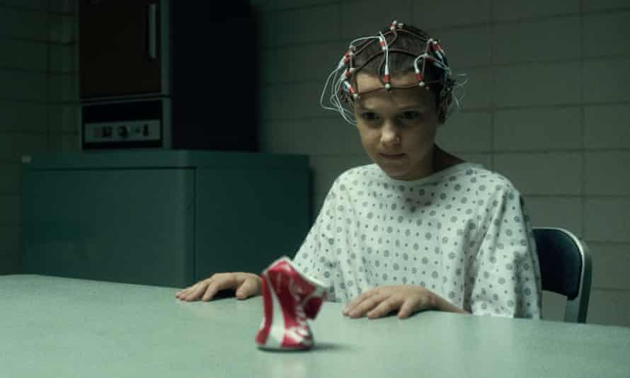 The makings of a star … Millie Bobby Brown in Stranger Things.