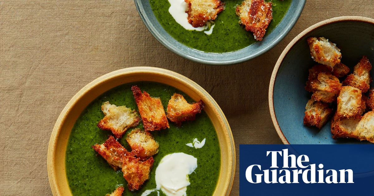 Thomasina Miers' recipe for cavolo nero, leek and potato soup with parmesan croutons