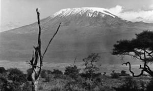 The snow covered peak of Mount Kilimanjaro, East Africa, mid 20th Century.
