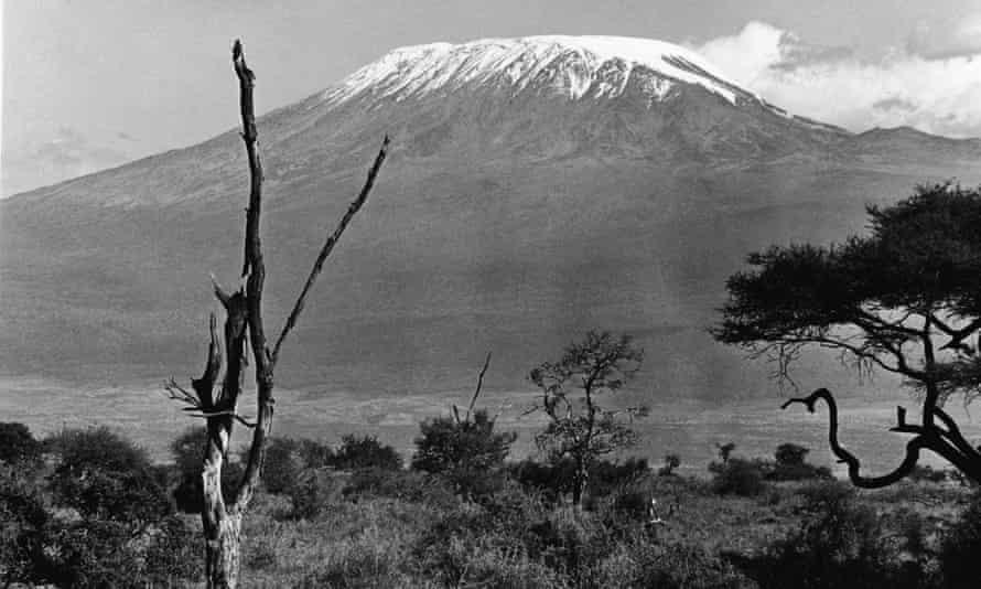 The snow covered peak of Mount Kilimanjaro, Tanzania, East Africa, mid 20th Century.
