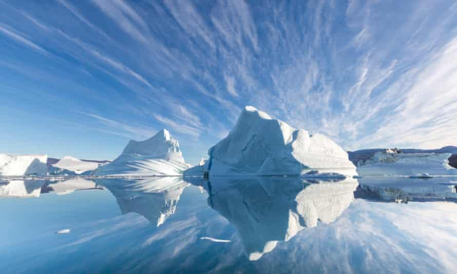 Icebergs in Scoresby Sund, Greenland