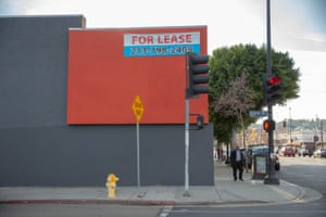 A building on the corner of Figueroa Street and Avenue 58 is up for lease.