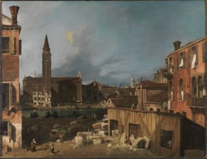 The Stonemason's Yard by Canaletto.