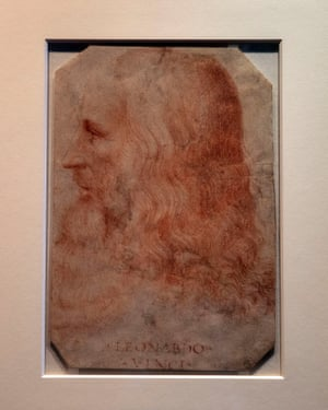 Portrait of a Man in Red Chalk.