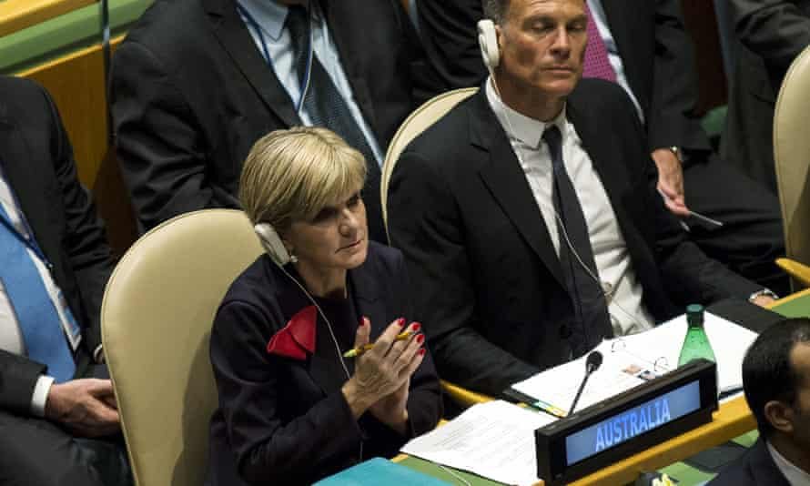 Julie Bishop at the United Nations in New York on Friday. Bishop has