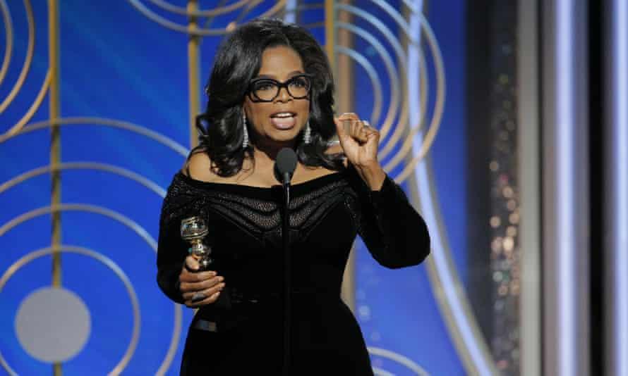 Barnstorming ... Oprah Winfrey at the Golden Globes.