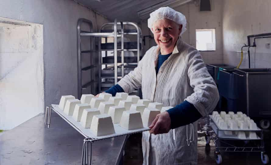 Mary Holbrook and her Tymsboro cheese.