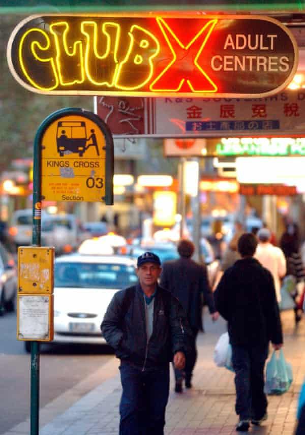 Neon signs on Sydney's infamous Darlinghurst Rd in Kings Cross