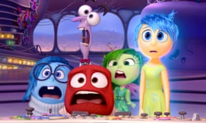 Mixed feelings … from left, Sadness, Fear, Anger, Disgust and Joy in Inside Out