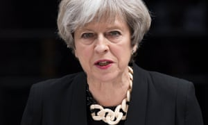 Theresa May: 'There is, to be frank, far too much tolerance of extremism in our country.'