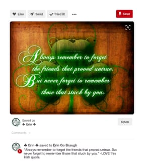The quote is all over Pinterest, usually listed as an Irish proverb.