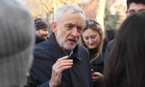 Labour leader Jeremy Corbyn talking to students in Nottingham last week.