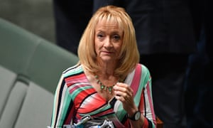 Liberal MP and party whip Nola Marino was one of the women struggling to be heard.