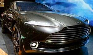 An Aston Martin DBX concept car