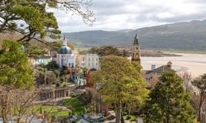 Portmeirion, Gwynedd, Wales.