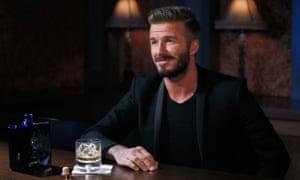 David Beckham with his Haig Club whisky.