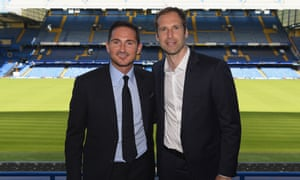 Cech and Frank Lampard, Chelsea teammates in their playing days, both returned to Stamford Bridge in the summer.
