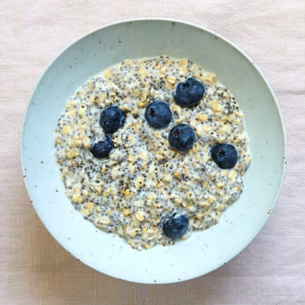 David Frenkiel and Luise Vindahl's overnight oats with blueberry, vanilla and chia.