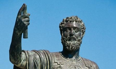A statue of Emperor Septimius Severus in Tripoli.
