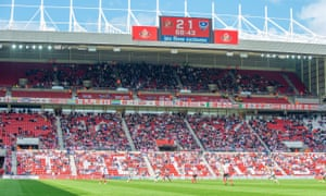 A half-empty stand at the Stadium of Light.