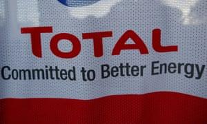French oil giant Total brand logo