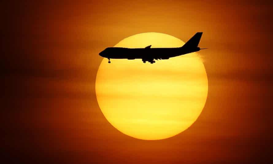 A commercial jet