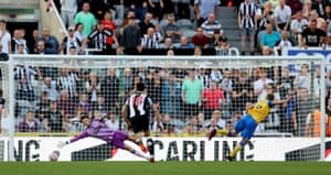 Southampton's James Ward-Prowse scores their second goal from the penalty spot.