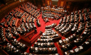 The Italian Senate. Under the reforms, the number of senators would be reduced from 315 to 100.