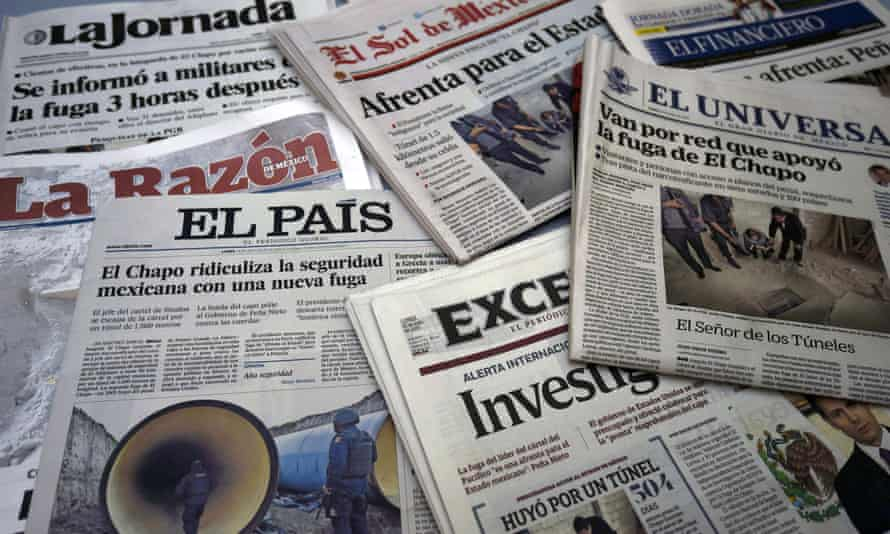 Mexican newspaper front pages after the escape of Joaquín 'El Chapo' Guzmán