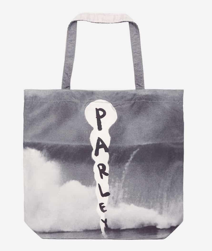 A Parley for the Oceans bag designed by artist Julian Schnabel.